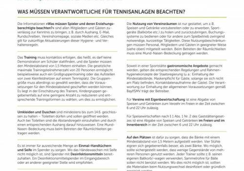 Hygiene- und Verhaltensregeln des BTV (Stand: 05.06.20)