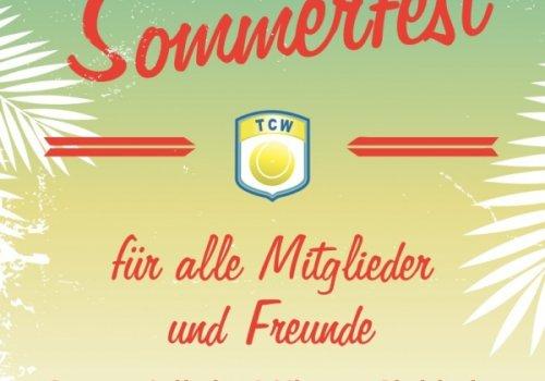 Sommerfest am Sa., 20.07. für Mitglieder und Freunde